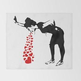 Lovesick - Banksy, Streetart Street Art, Grafitti, Artwork, Design For Men, Women, Kids Throw Blanket