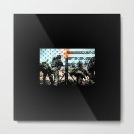 Mortar Fire Metal Print
