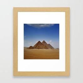 Pyramids of Giza Framed Art Print