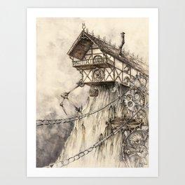 Steampunk House Art Print