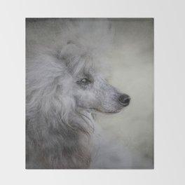 Longing - Silver Standard Poodle Throw Blanket