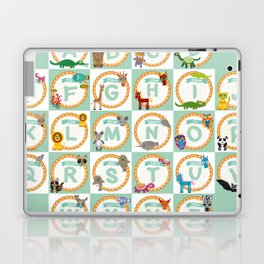 ABC alphabet for kids from A to Z. Set of funny cartoon animals character. zoo Laptop & iPad Skin