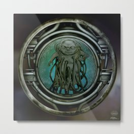 """Astrological Mechanism - Aquarius"" Metal Print"