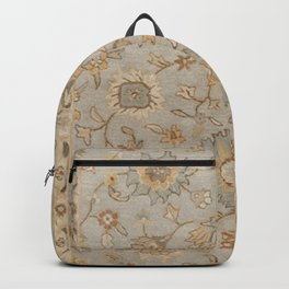 Antique Persian Floral Medallion Vector Painting Backpack