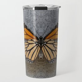 Monarch Butterfly Beneath Travel Mug