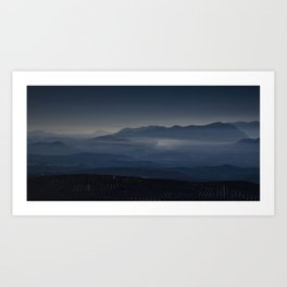 Mists among the olives in Jaén | Brumas entre los olivos de Jaén Art Print