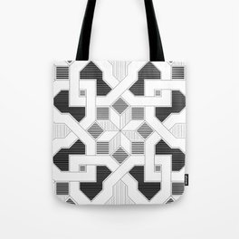 Oriental Pattern - Geometric Design - lines Tote Bag