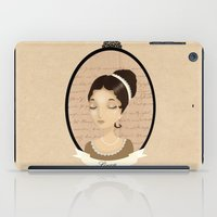 pride and prejudice iPad Cases featuring Pride and prejudice - Lizzy Bennet by Stravaganza