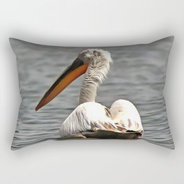 The Sea Breeze Blows The Pelican Where He Wants To Go Rectangular Pillow