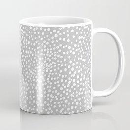 Little wild cheetah spots animal print neutral home trend cool gray black  Coffee Mug