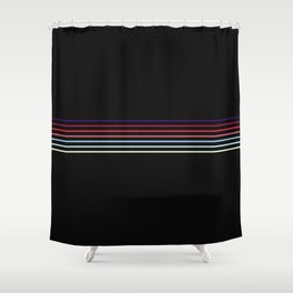 Pop Colored Fine Lines Shower Curtain