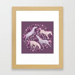 Spring horses Framed Art Print