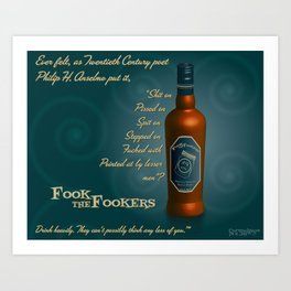 Fook the Fookers Perfectly Adequate Scotch Whisky Art Print
