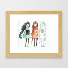Duck feet girls Framed Art Print