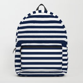 Striped Navy Blue Backpack