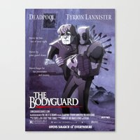 lannister Canvas Prints featuring deadpool, tyrion lannister : the bodyguard by m7781