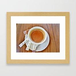 Espresso Sucre Framed Art Print