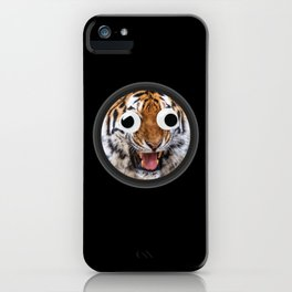 Tiger With Googly Eyes Fun iPhone Case