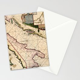Map Of The Adriatic Sea 1700 Stationery Cards
