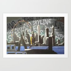 Crowded Skyline Art Print