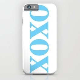 Light Blue XOXO iPhone Case