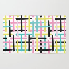 Criss Cross Weave Hand Drawn Vector Pattern Background Rug