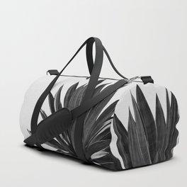 Agave Cactus Black & White Duffle Bag