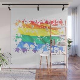 LGBTQ Splatter Wall Mural