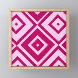 Pink Diamonds Framed Mini Art Print