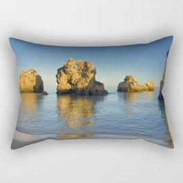 Rock formations near Albufeira, Portugal Rectangular Pillow
