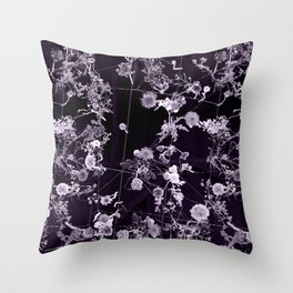 The moon is liquid (and I'm invisible) Throw Pillow