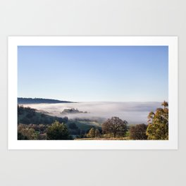 Fog Meets Trees in Butte County Art Print