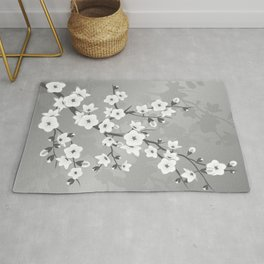 Only Gray Cherry Blossom Rug