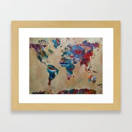 Give You The World Framed Art Print