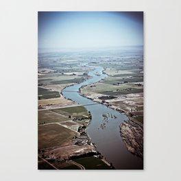 Winding River. Canvas Print