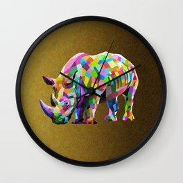Wild Rainbow Wall Clock