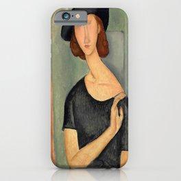 """Amedeo Modigliani """"Jeanne Hébuterne (Au chapeau)"""" iPhone Case"""