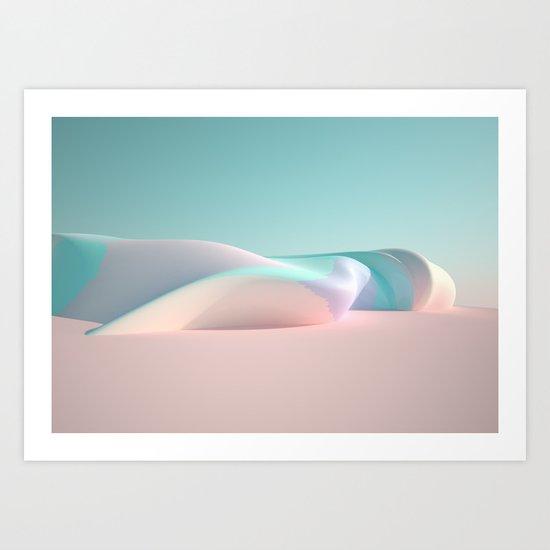 Soft Rock Art Print