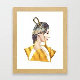 Love\Yellow Framed Art Print