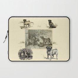 PUG DOGS Illustration Laptop Sleeve