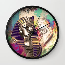 King Tut  Mask Abstract composition Wall Clock