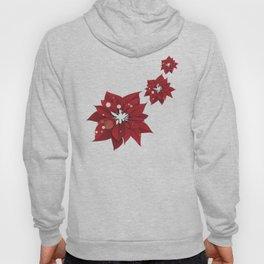 Poinsettias - Christmas flowers   BG Color II Hoody