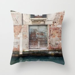 A venice door Throw Pillow