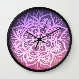 Sunset Sky Mandala Wall Clock