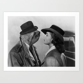 Sloth in Casablanca Art Print