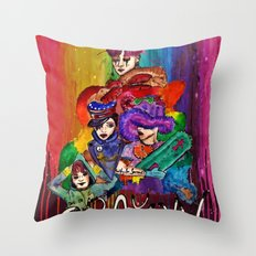 G-Dragon Crayon Throw Pillow
