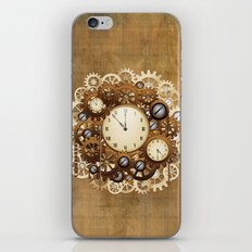 Steampunk Vintage Style Clocks and Gears iPhone Skin