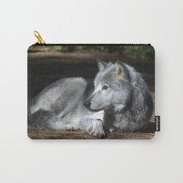 Gray Wolf at Rest Carry-All Pouch