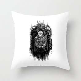 Black Swordsman Throw Pillow