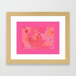 """Mad Scientist Don't Have Dates"" pink edition for the Love Show 2012. Framed Art Print"
